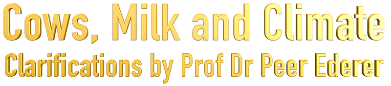 Cows Milk and Climate, authored by Prof Dr Peer Ederer